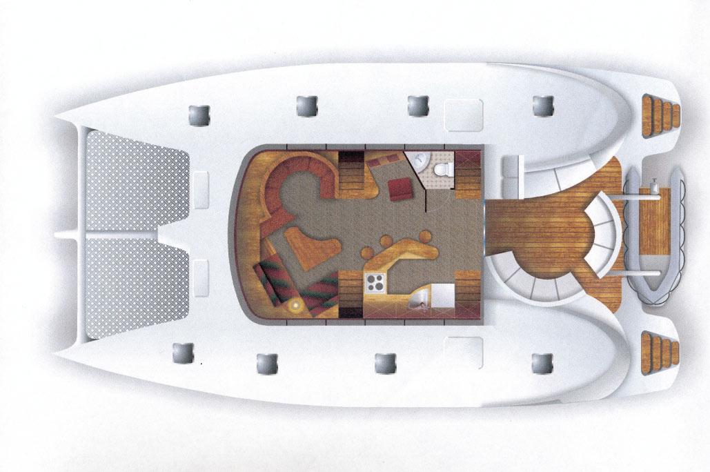 Σχεδιασμός Catamaran πριν την ναυπήγηση, έργο της K.DIAKOSMOS-4