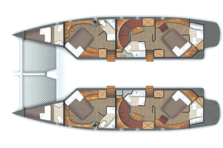 Σχεδιασμός Catamaran πριν την ναυπήγηση, έργο της K.DIAKOSMOS-5